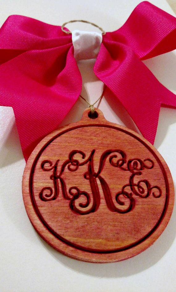 Monogram Rear View Mirror Hanger Color by CraftyBellesEst2015
