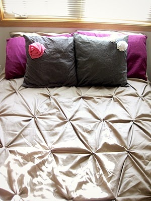 Brylee's DIY pin-tucked duvet. I just love how it turned out :)