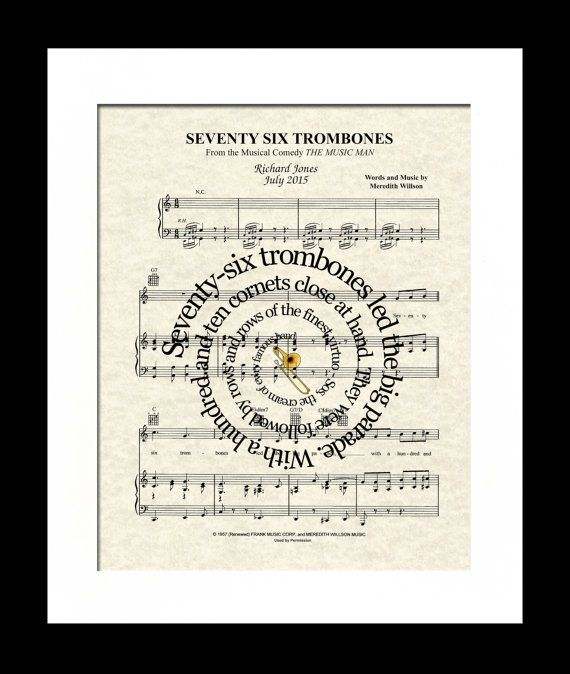 Seventy Six Trombones Lyrics - Music Man, The musical