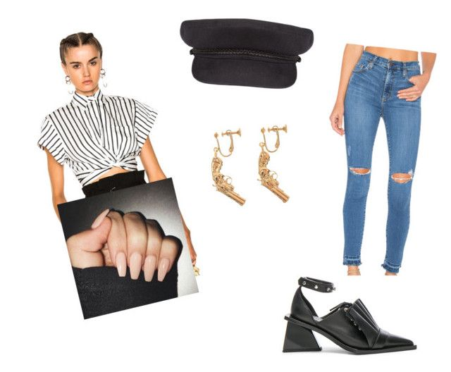 """""""Untitled #4012"""" by oreabe ❤ liked on Polyvore featuring T By Alexander Wang, Brixton, Yves Saint Laurent, Nobody Denim and Marques'Almeida"""