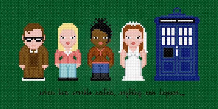 Médico 10 y Compañeros de Doctor Who por AmazingCrossStitch