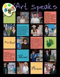 yearbook page ideas - feature students artwork and a their comment on it.