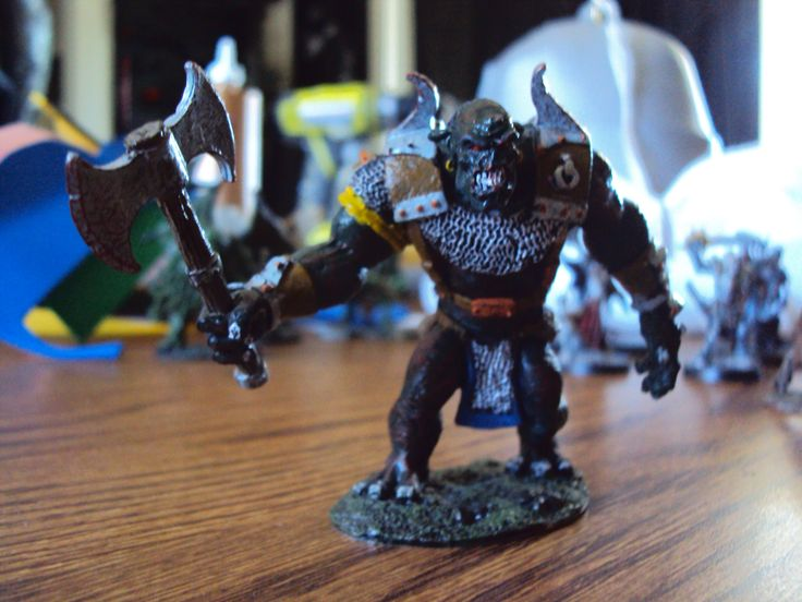 Ogre figure that I painted.