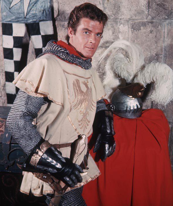 Roger Moore in 'Ivanhoe.'