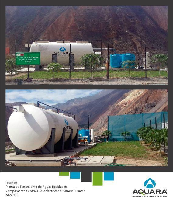 Planta de tratamiento de aguas residuales para campamento.