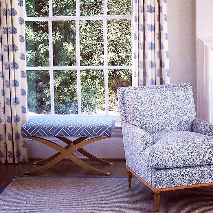 Alan Campbell Jacks II chair with China Seas Bangalore Paisley curtains,  Design by Bear Hill Interiors.