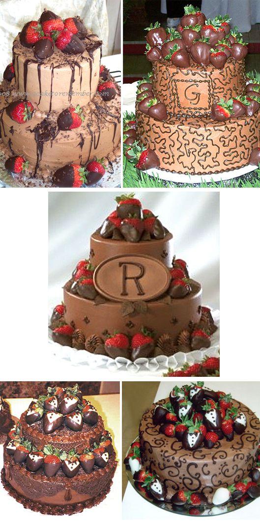 Chocolate with Strawberries: Strawberries Cakes, Cakes Ideas, Chocolates Cakes, Chocolates Wedding Cakes, Cakes Written, Anniversaries Cakes, Chocolates Covers Strawberries, Birthday Cakes, Grooms Cakes
