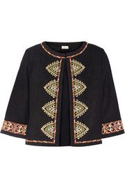 TalithaEmbroidered woven silk jacket