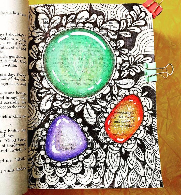 """""""#zengems Art Ed Central loves art journal gem tangles"""