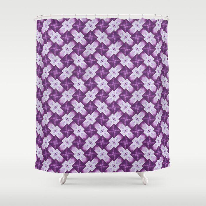 Buy Fuschia Pattern 5 Shower Curtain By Elvyness Worldwide