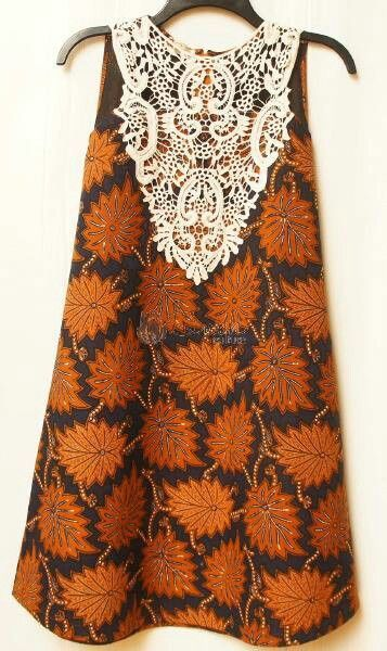 Brown Top with Lace