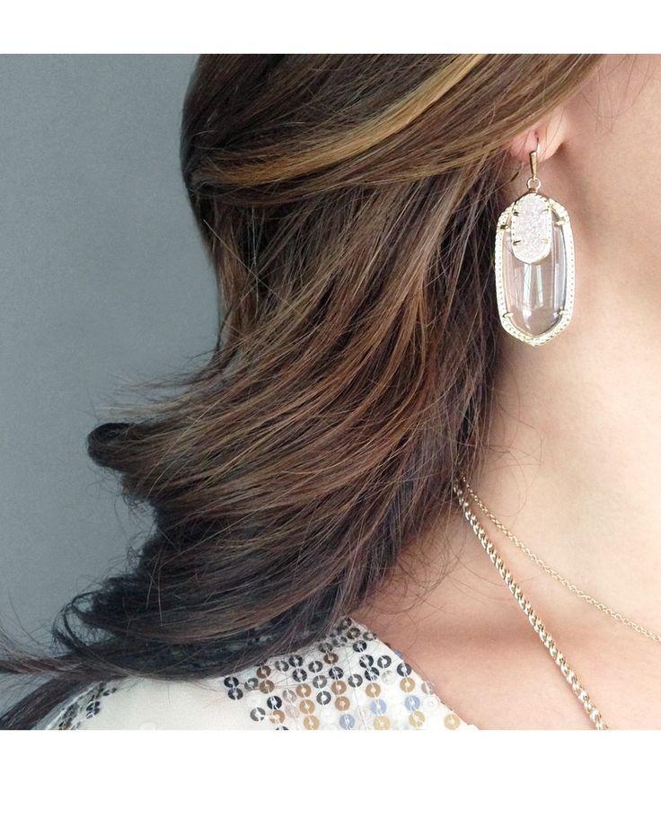 Emmy Drop Earrings in Clear Cosmic - SHOP ellie bee's - Longview, Texas www.facebook.com/elliebeespaperandgifts