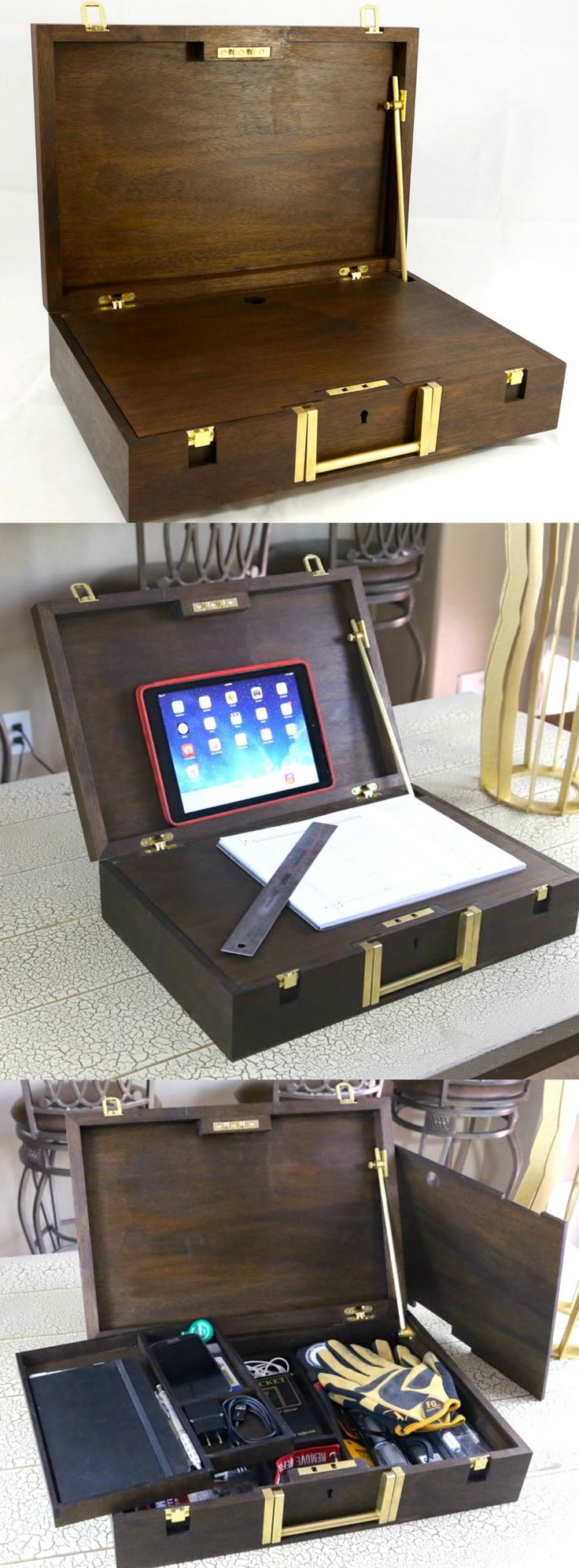 Portable lap desk techshop tool kit lap desk tool kit and storage organization - Wood lap desk with storage ...