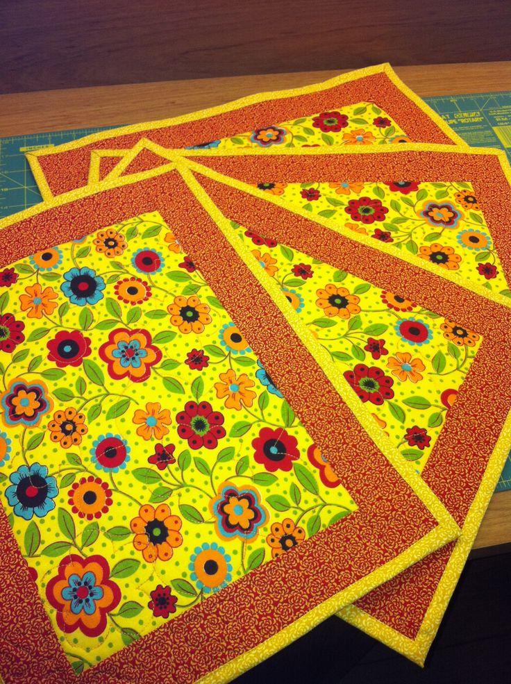 Jogo americano tecido florido