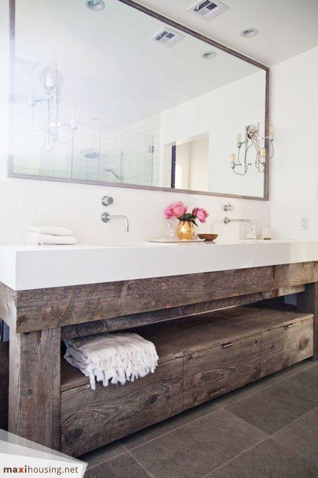 Bathroom Ideas: Modern And Rustic Bathroom Vanity From A Reclaimed Wood