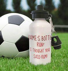 Bottle of Rum Personalised Water Bottle