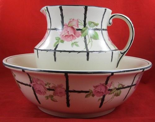 500 best pitcher basin sets images on pinterest bowl set water jugs and water pitchers. Black Bedroom Furniture Sets. Home Design Ideas