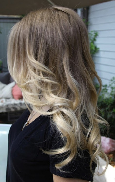 growing out color natural ombre, apparantly this is a trend right now, good timing!