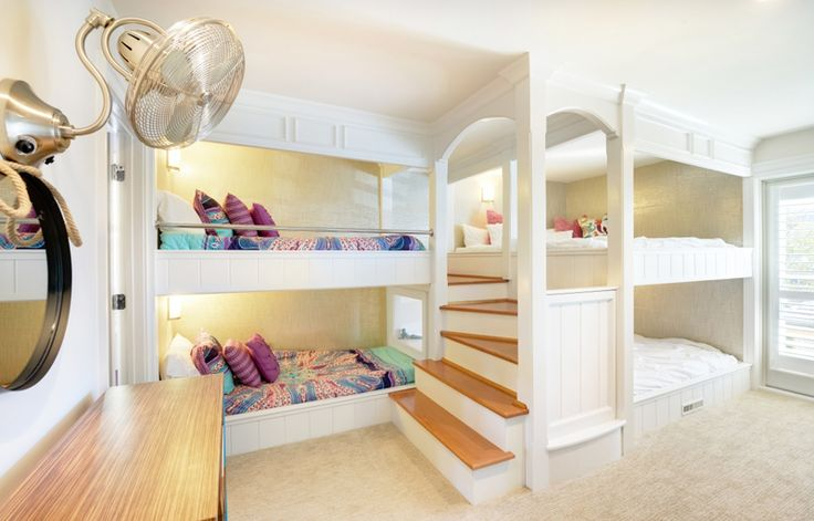 Second bunk room in Dewey Beach, DE home from Echelon Interiors and Echelon Custom Homes {House of Turquoise}