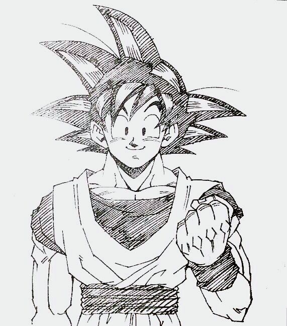 Goku by Toyotaro. Pinned from: #SonGokuKakarot