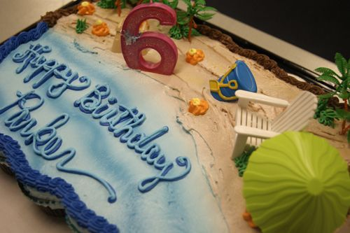 beach themed kids birthday party | beach birthday cake