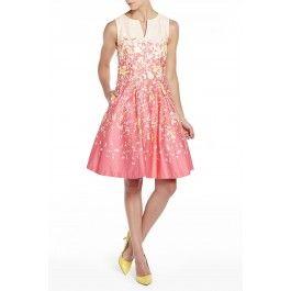 Chetta B Floral Print Fit & Flare Dress