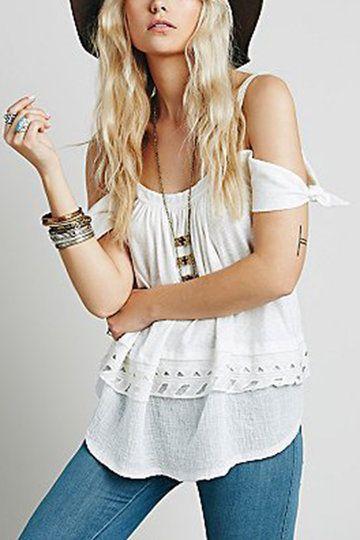 Love that handkerchief sleeve ...Boho Style