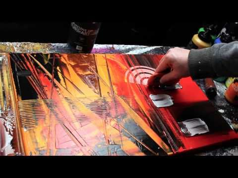 Abstract acrylic painting Demo HD Video - Carbon by John Beckley - YouTube