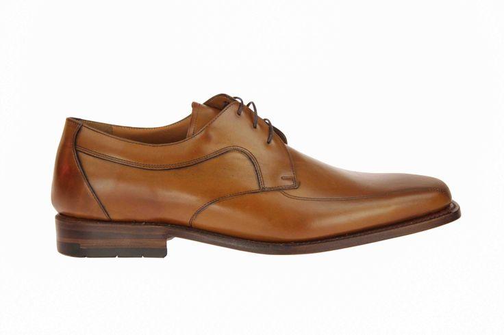 Van Bommel cognackleurige geklede schoenen met I-leest, voor brede voeten. #VanBommel #Zomer2014 #SchoenenCaramel