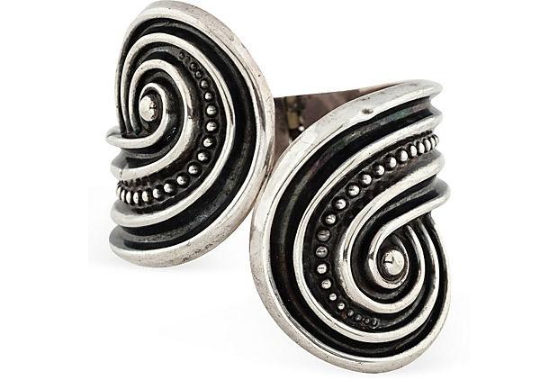 Mexican Silver Hinged Bracelet VII on OneKingsLane.com