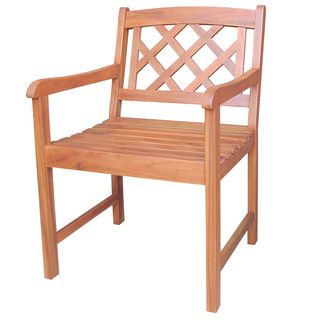 Natural Oiled X-back Outdoor Wood Chair