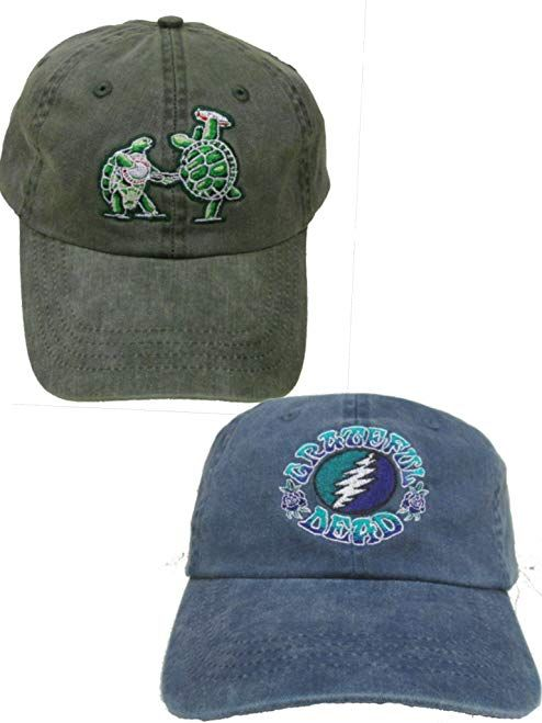 Grateful Dead Terrapin and Batik Bolt Embroidered Hats - 2 Pack Review d3d212a5379