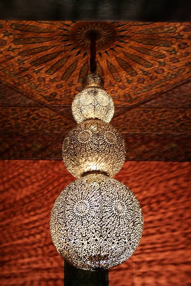 Our gorgeous 4 tiered Moroccan chandelier installation. Very Magical! Custom Moroccan Lighting, Lanterns for Interior Design