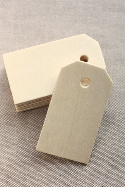 Wooden tags? Instead of paper?