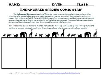 Printables Endangered Species Worksheets 1000 images about endangered animals on pinterest student species comic strip