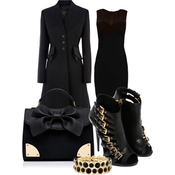 """lady black gold"" by sundawi on Polyvore"