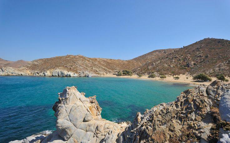 Among Greece's best beaches: Psilí Ámmos in Patmos by Telegraph. #patmos #patmosaktis #patmos_island