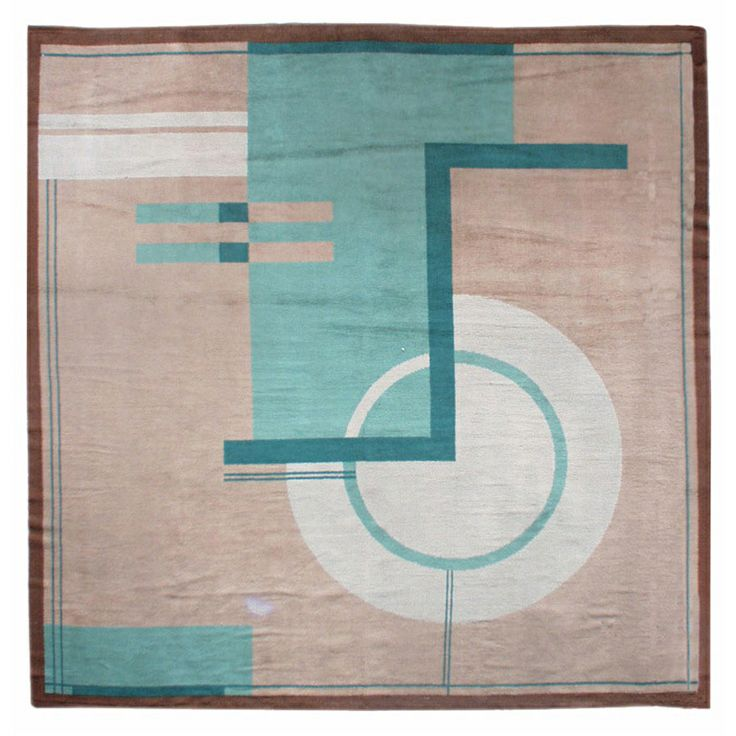 Vintage Art Deco rug | From a unique collection of antique and modern more carpets at http://www.1stdibs.com/furniture/rugs-carpets/area-rugs-carpets/
