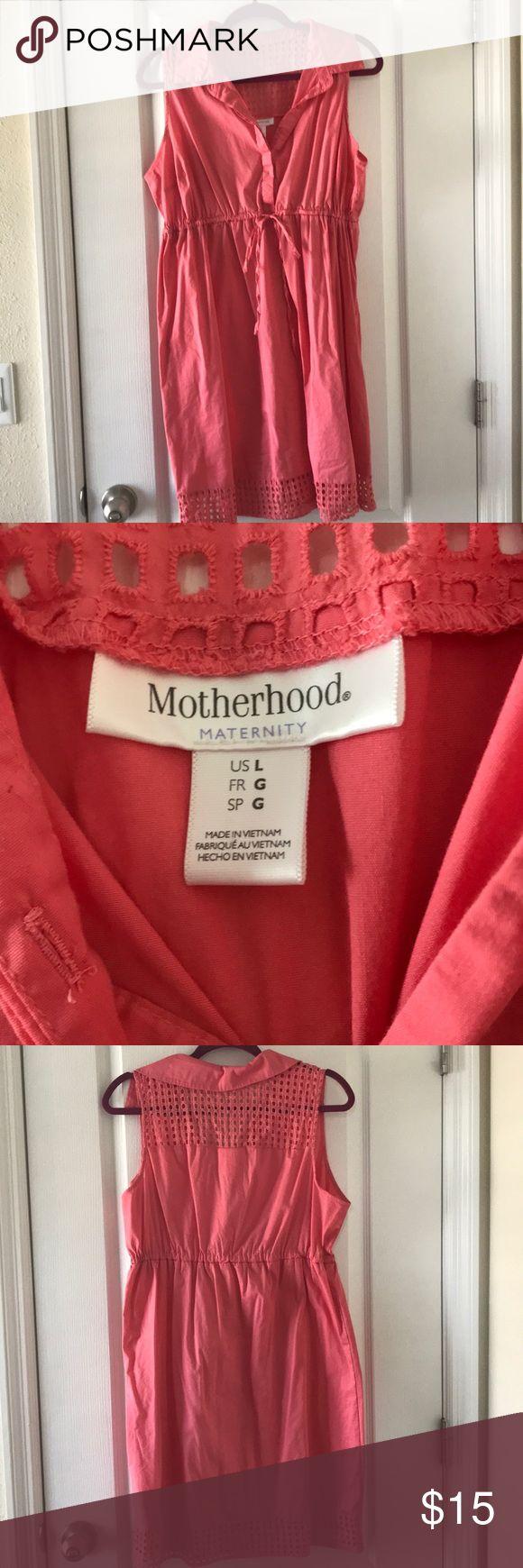 Motherhood coral sundress - size Large Adorable Motherhood Coral Sundress - Never Worn - Size Large Motherhood Maternity Dresses Midi