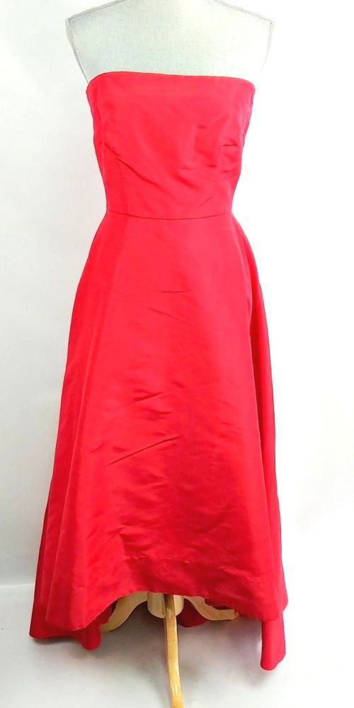 c1347c4c4dfc ML Monique Lhuillier 4 Triumph Gown Size 8 Strapless Red High Low   MoniqueLhuillier  FitFlareDress  Formal