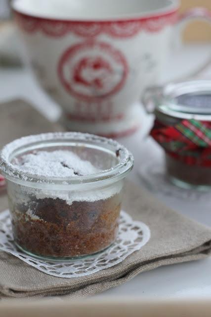 Schoko-Cranberry-Kuchen im Glas