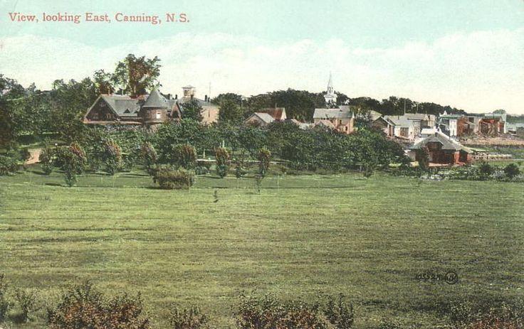 Looking eastward at Canning Nova Scotia, postmarked May 1910