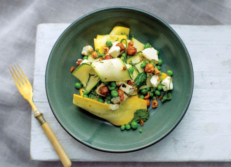Tom Kitchin recipes: Courgette and goat's cheese salad | Courgette and aubergine filo tarts