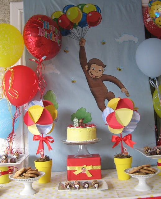 Gabriel and Belle Celebrations: A Curious George Monkey Birthday