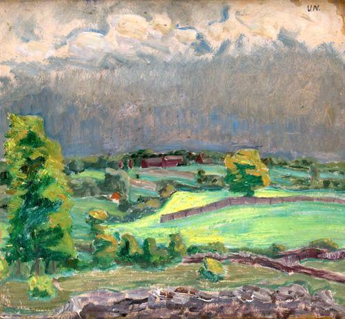 Vera Nilsson 1888-1979 Landscape from Öland (Baltic Sea)