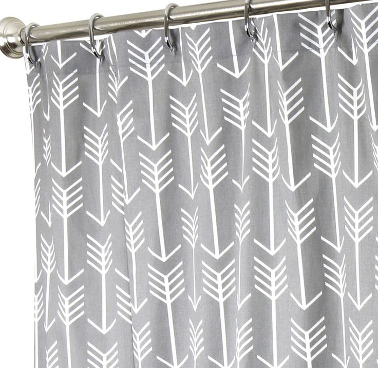 "Fabric Shower Curtains Cool Shower Curtains Gray Shower Curtain Unique Arrow 72"" #DecorativeThings #Modern"