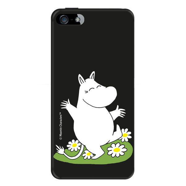 Black case for iPhone 5/5s featuring Moomintroll.