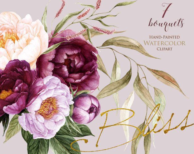 Картинки, цветок пион на открытку