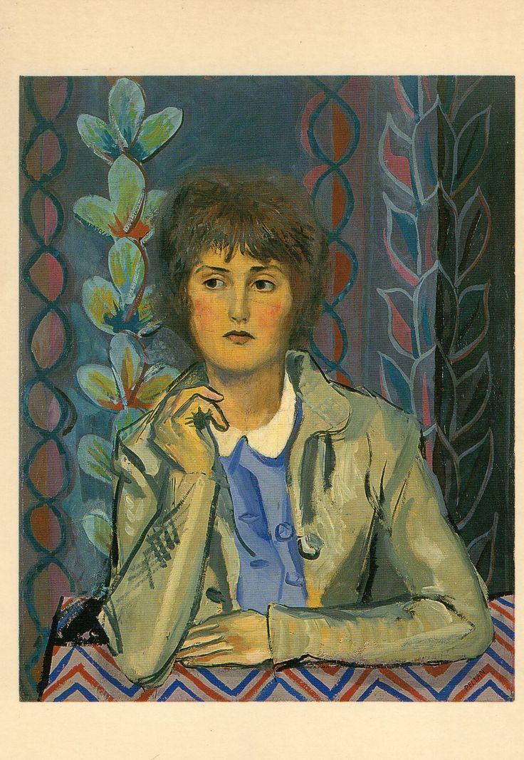 Alfred Pellan 1906-1988 Jeune fille au col blanc, huile sur toile 91,7x73,2cm. Coll Musée du Québec.