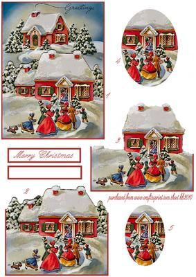 vintage christmas shaped step by step on Craftsuprint designed by Heather Howes - a different shapes step by step sheet effective when made up - Now available for download!